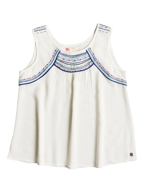 0 Girls 7-14 Dotty Folk Top  ERGWT03011 Roxy