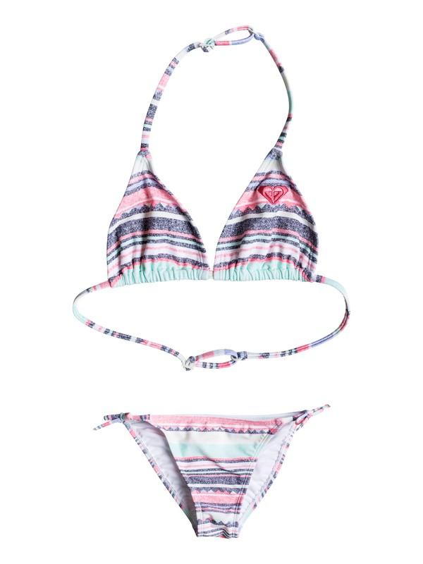 0 Girls 7-14 Little Indy Tri Bikini Set  ERGX203052 Roxy