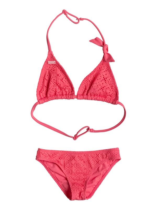 0 Girls 7-14 Girly ROXY Bikini Set Pink ERGX203058 Roxy