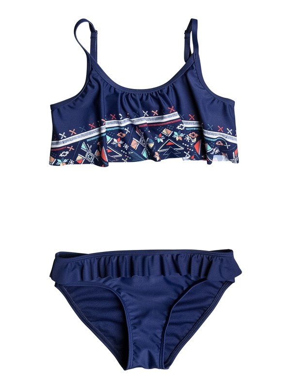 0 Girls 7-14 Little Pretty Flutter Bikini Set  ERGX203061 Roxy