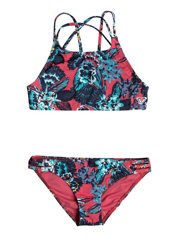 0 Let The Surf - Crop Top Bikini Set Rosa ERGX203119 Roxy