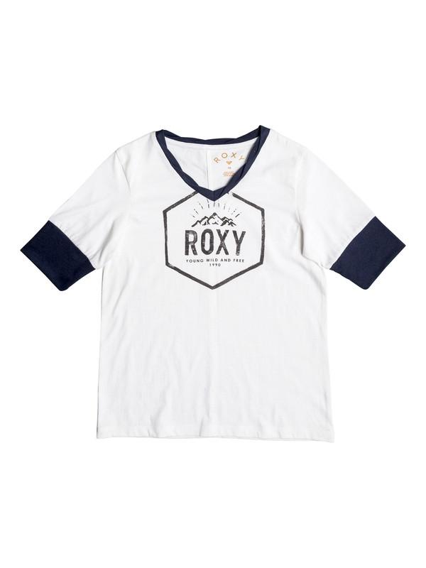 0 Fleeting Moments - T-Shirt mit 3/4 Ärmeln Weiss ERGZT03223 Roxy