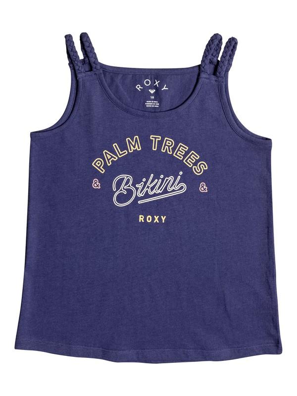 0 Uphill Ride Palmtree Bikini - Haut à bretelles Bleu ERGZT03281 Roxy