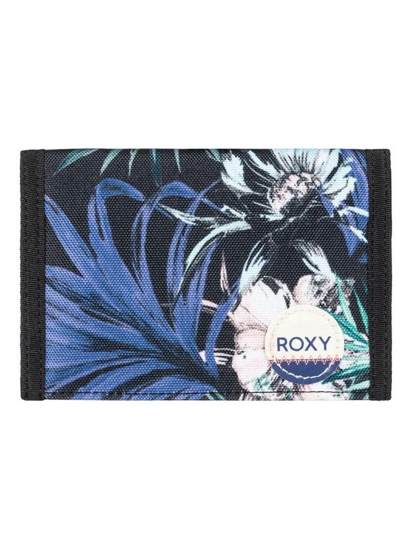 0 Beach Glass - Hook & Loop Wallet Black ERJAA03308 Roxy