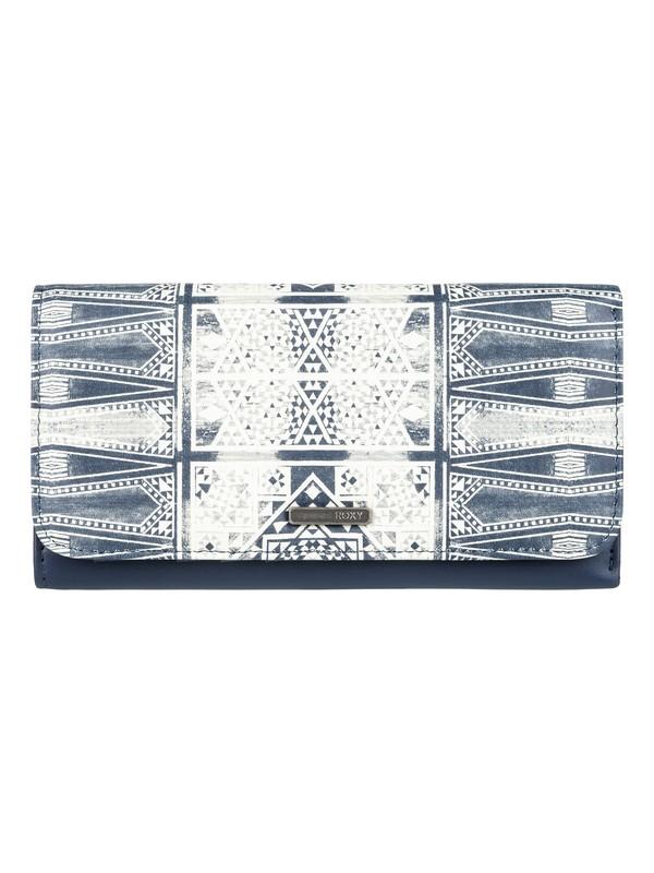 0 My Long Eyes - Snap Closure Wallet Blue ERJAA03309 Roxy
