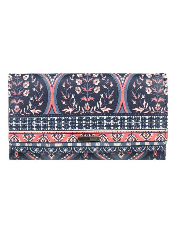 0 My Long Eyes Tri Fold Wallet Blue ERJAA03389 Roxy