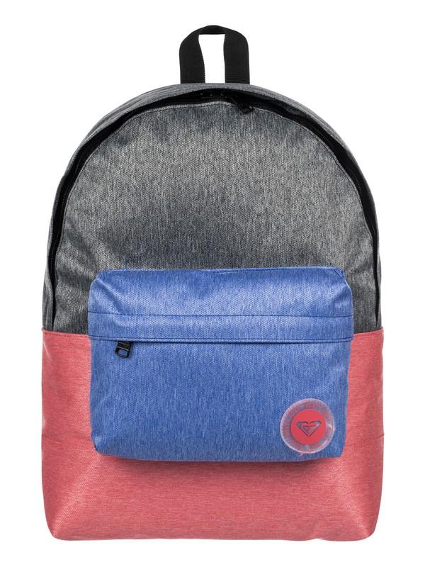 0 Sugar Baby Colorblock 16L - Medium Backpack Pink ERJBP03534 Roxy