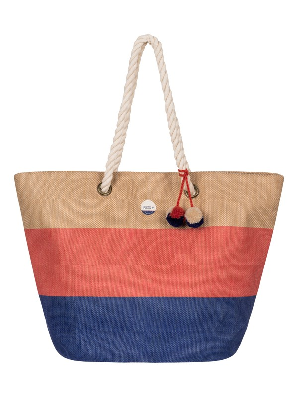 0 Sun Seeker - Sac de plage en paille Orange ERJBT03050 Roxy