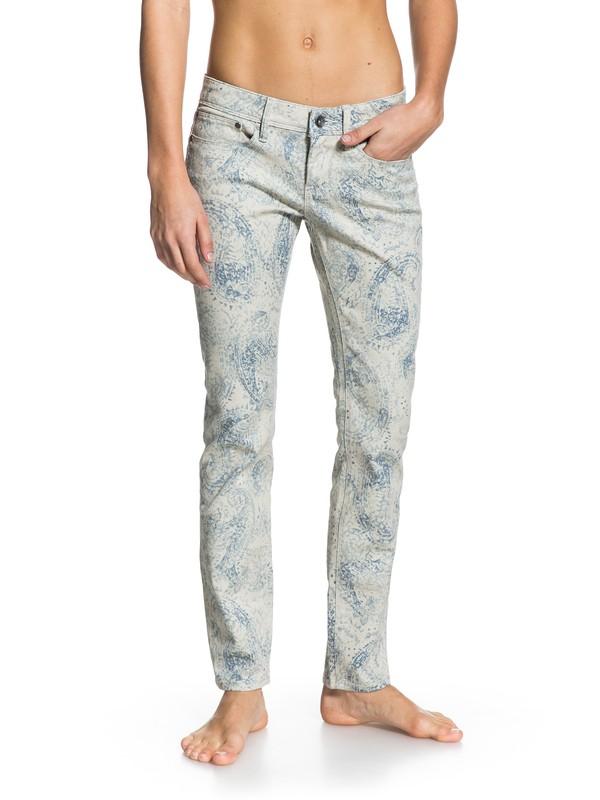 0 Suntrippers Print Skinny Jeans  ERJDP03022 Roxy