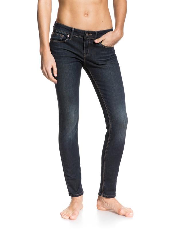 0 Suntrippers Dark Dirty Used Jeans  ERJDP03035 Roxy