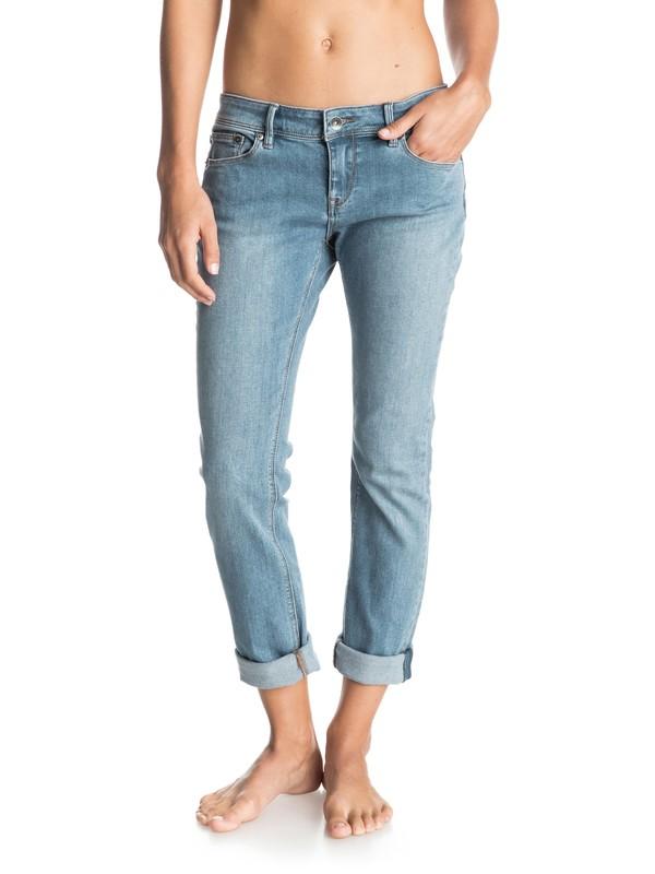 0 Suntrippers Vintage Wash Skinny Jeans  ERJDP03040 Roxy