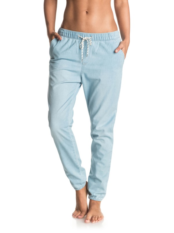 0 Easy Beachy - Denim Joggers  ERJDP03138 Roxy