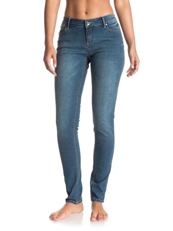 0 Suntrippers Dark Blue Skinny Jeans  ERJDP03140 Roxy