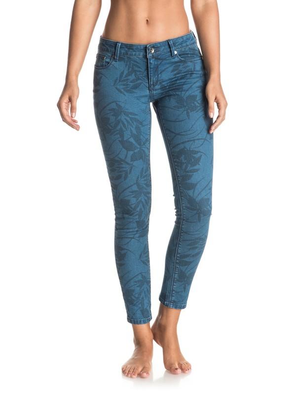 0 Suntrippers Printed Skinny Jeans  ERJDP03143 Roxy