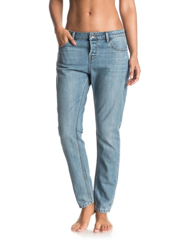 0 Never Without - Boyfriend Fit Jeans Blue ERJDP03144 Roxy