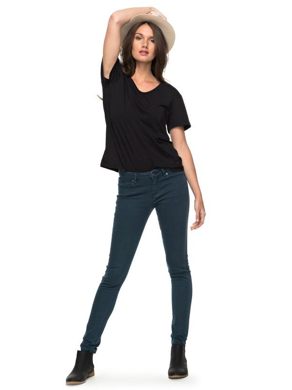 0 Suntrippers Colors - Skinny Fit Jeans Blue ERJDP03158 Roxy