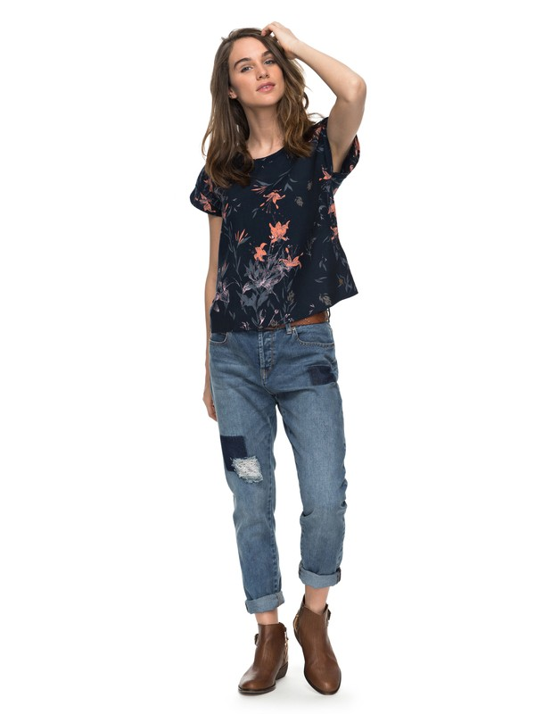 0 Beyond Sky - Boyfriend Fit Jeans Blue ERJDP03165 Roxy