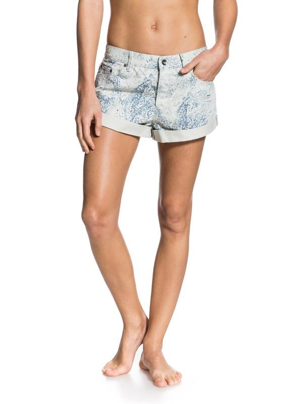 0 Hearted Print Shorts Grey ERJDS03004 Roxy