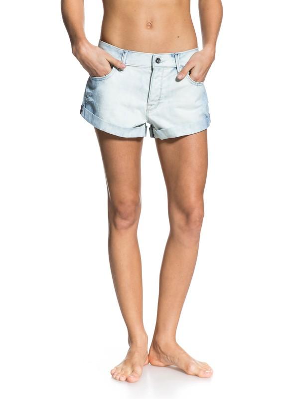 0 Hearted Acid Wash Jeans White ERJDS03015 Roxy