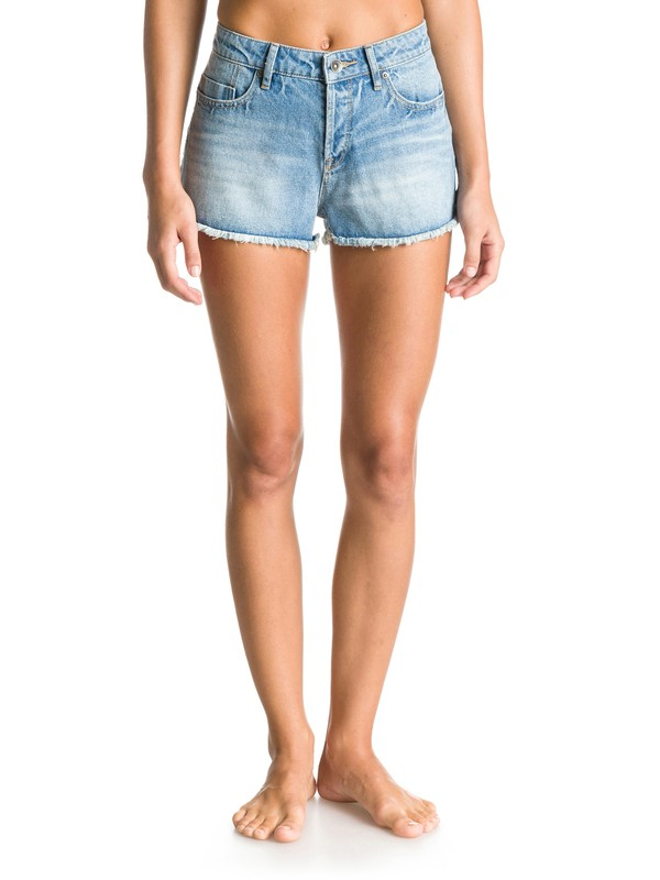 0 Stripy Eighty Wash High-Waisted Denim Shorts  ERJDS03050 Roxy