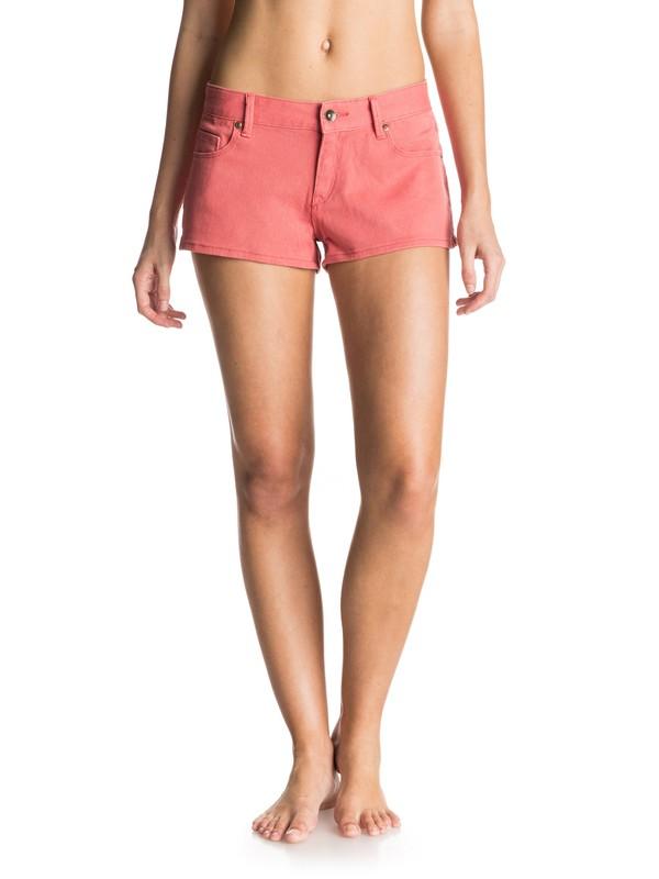 0 Forever Colors - Denim Shorts Pink ERJDS03051 Roxy