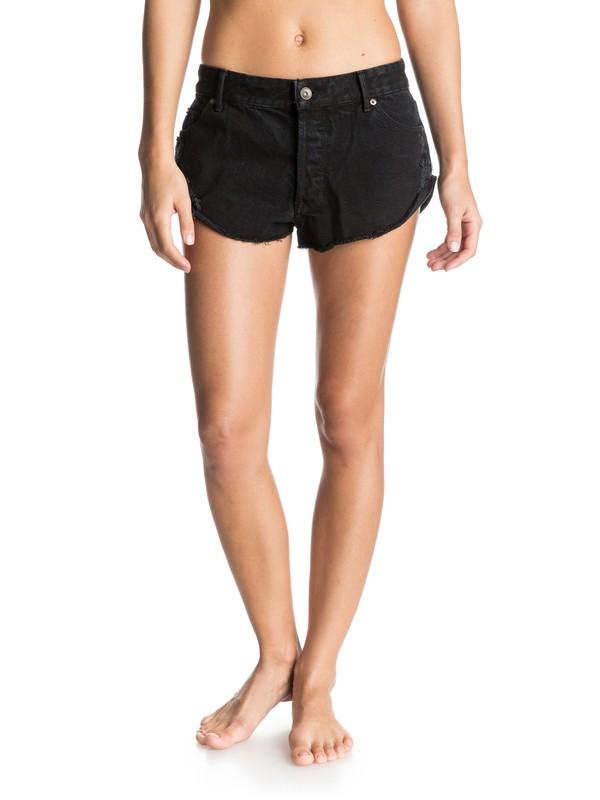 0 Black Peaceful Denim Shorts  ERJDS03061 Roxy