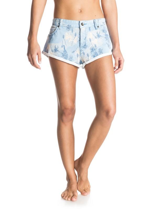 0 Peaceful Printed Denim Shorts  ERJDS03072 Roxy