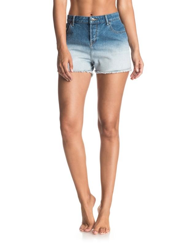 0 Lovely Deep Dye High Wasted Denim Shorts  ERJDS03117 Roxy