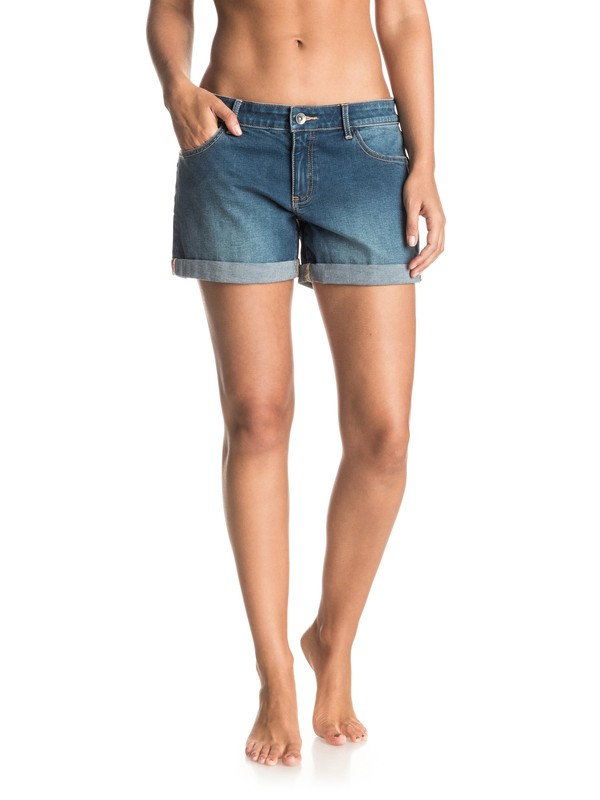0 Rolly Up - Denim-Shorts Blau ERJDS03118 Roxy