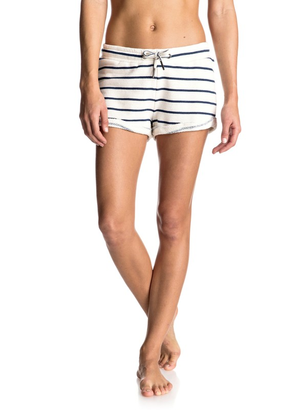 0 Signature Stripe Fleece Shorts  ERJFB03106 Roxy