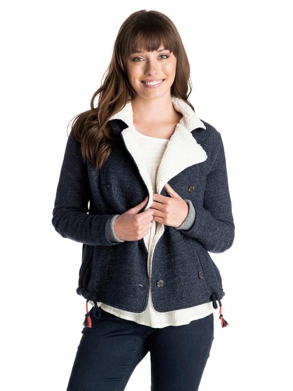 0 Street Dancer Button Up Sweatshirt  ERJFT03138 Roxy