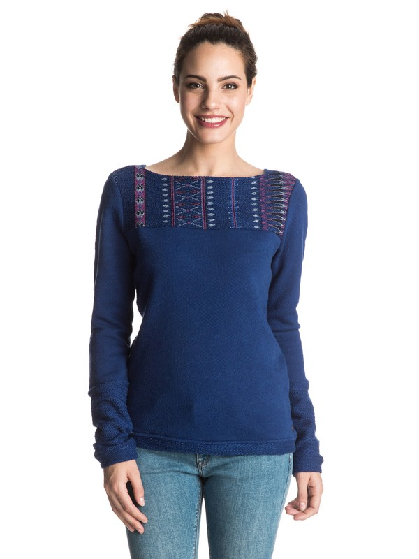 0 Soul Feeling Pullover Sweatshirt Blue ERJFT03365 Roxy