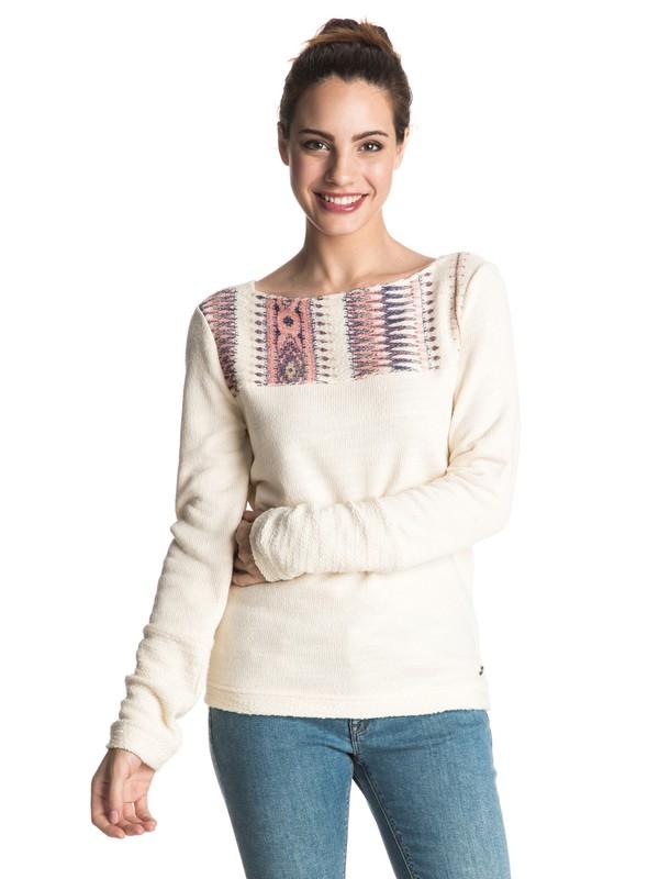 0 Soul Feeling Pullover Sweatshirt White ERJFT03365 Roxy