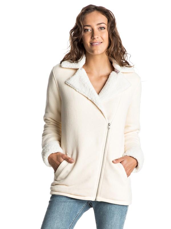0 Full Moon French Terry Sweatshirt White ERJFT03371 Roxy
