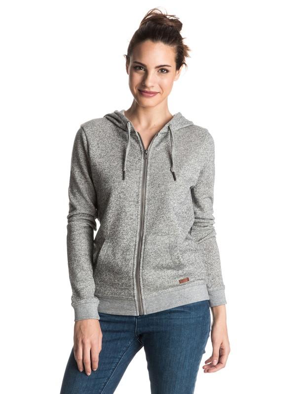 0 Signature Zip Up Hoodie Grey ERJFT03409 Roxy