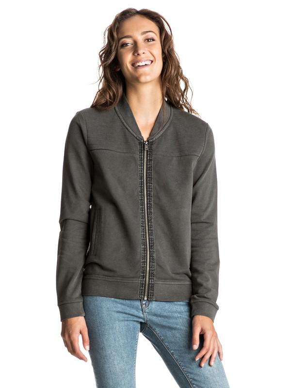 0 Harmony Feeling Zip Jacket Grey ERJFT03421 Roxy