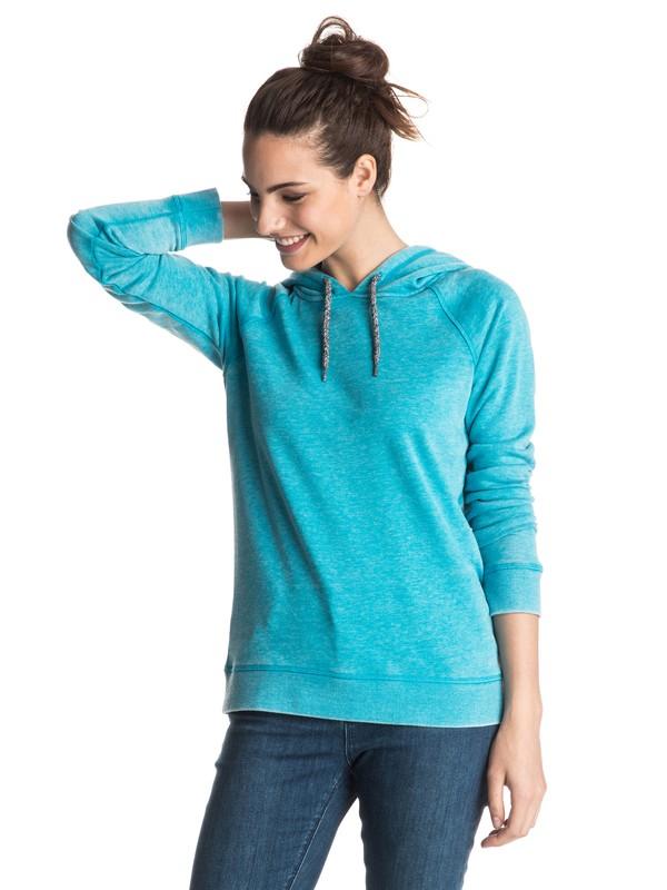 0 Palm Bazaar Pullover Hoodie Blue ERJFT03432 Roxy