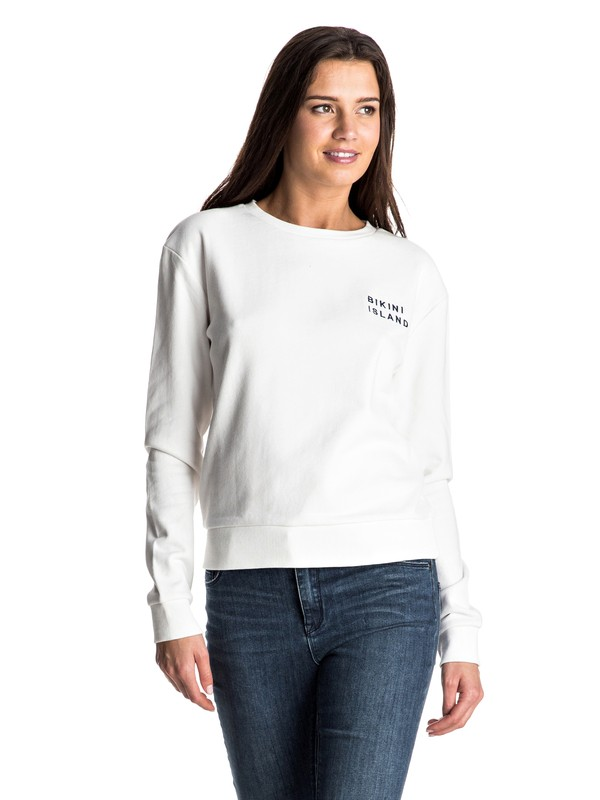 0 Going My Wave Pullover Sweatshirt White ERJFT03440 Roxy