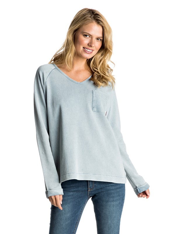 0 Palpo Point Sweatshirt Blue ERJFT03481 Roxy