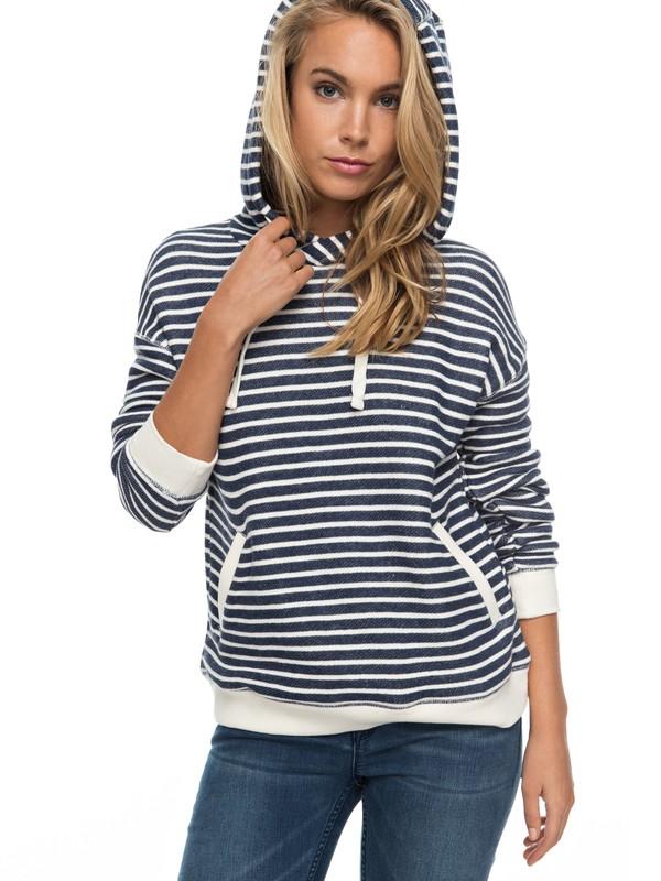 0 Shoal Stripe Hoodie Blue ERJFT03497 Roxy