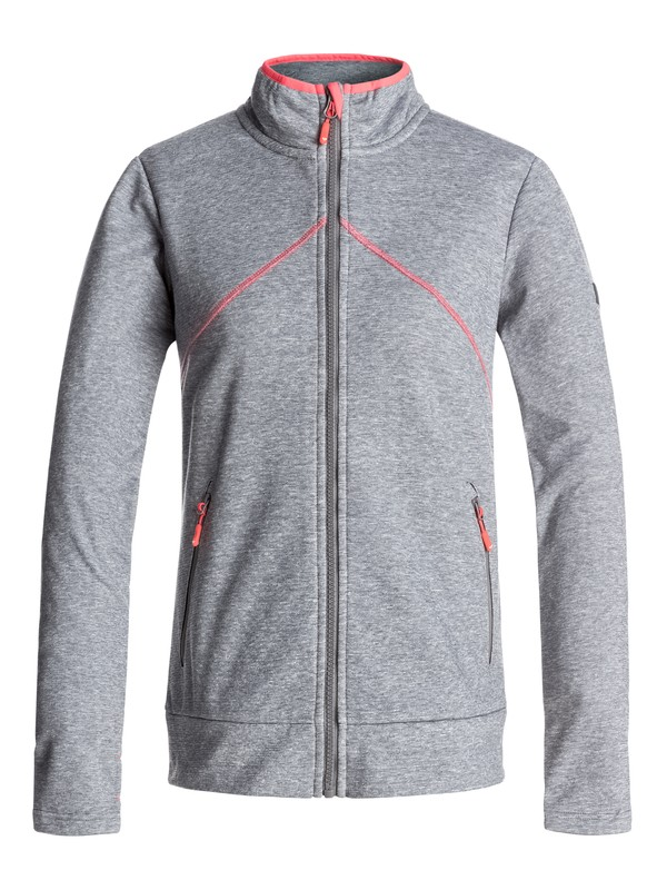 0 Hazed Lurex - Zip Mid Layer Gray ERJFT03557 Roxy