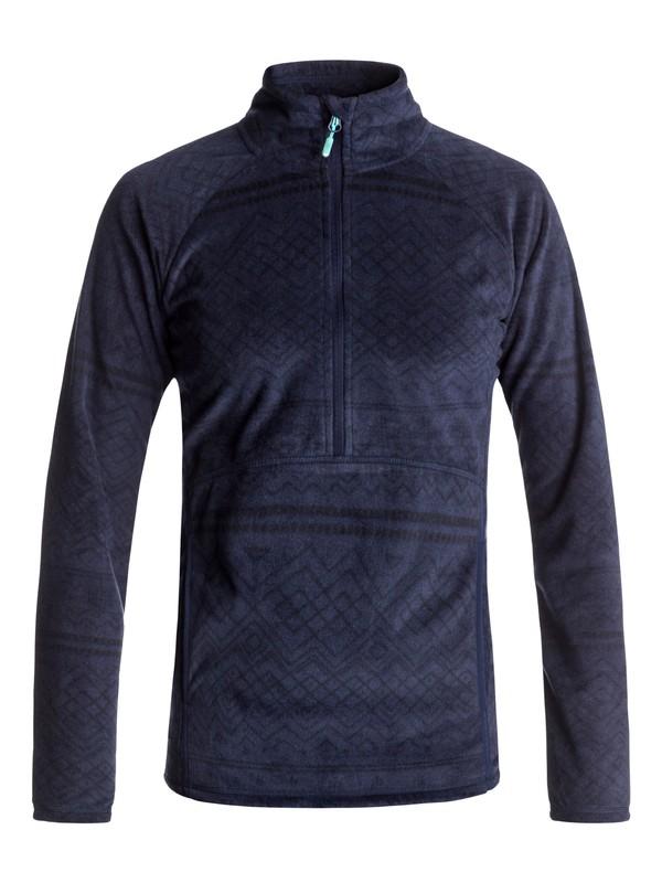 0 Флисовая толстовка на молнии Cascade Синий ERJFT03562 Roxy