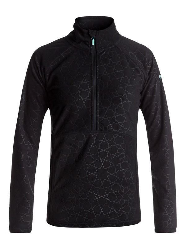 0 Cascade - Half-Zip Polar Fleece Black ERJFT03562 Roxy