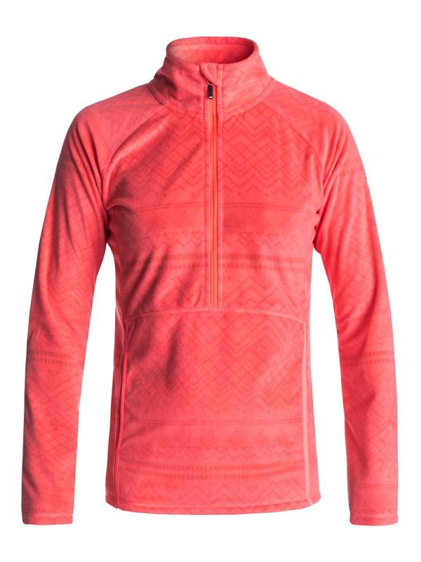 0 Cascade - Half-Zip Polar Fleece Orange ERJFT03562 Roxy