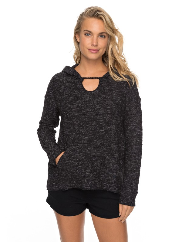 0 Crazy Waves - Hooded Sweatshirt Black ERJFT03690 Roxy