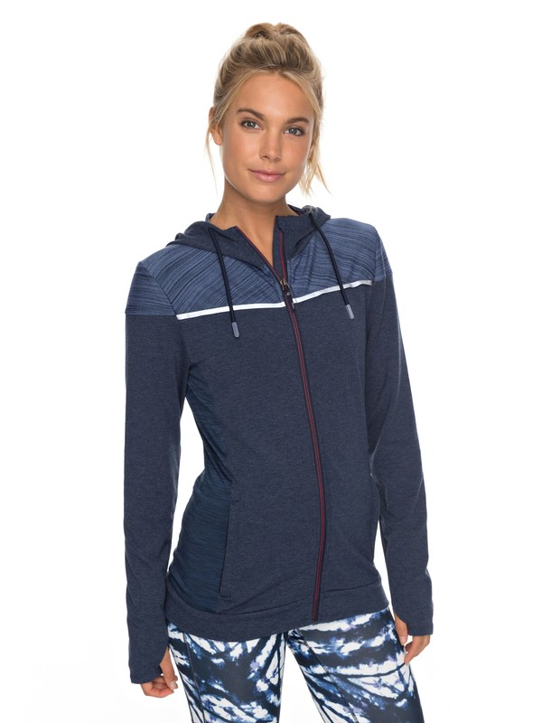 Crazy Feeling Technical Zip Up Hoodie by Roxy