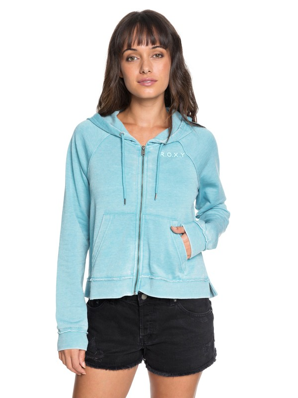 True To Life Zip Up Hoodie by Roxy