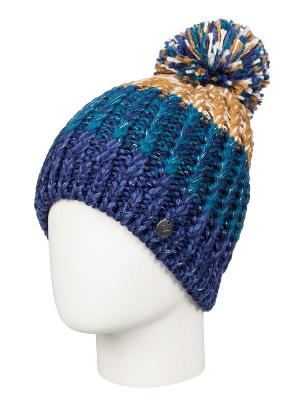 0 Polly Block Beanie Blue ERJHA03095 Roxy