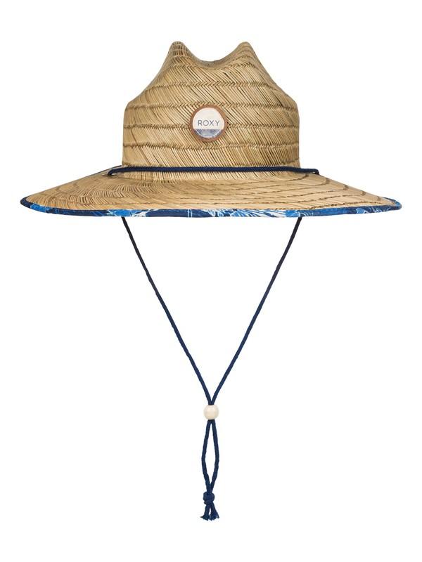 0 Tomboy Printed Straw Hat  ERJHA03146 Roxy