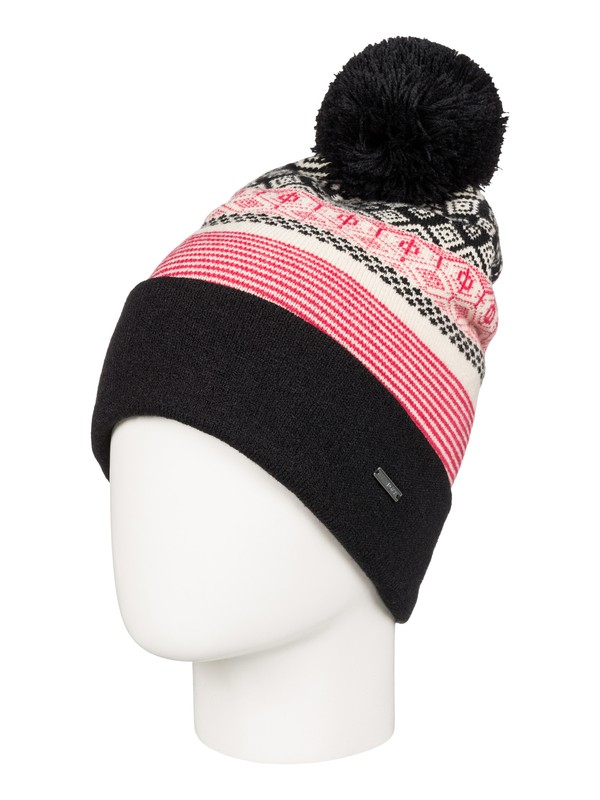 0 Retro Snow Beanie Black ERJHA03170 Roxy